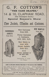 Advert For G. F. Cotton, Drapers